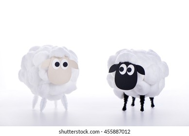 Eid Al Adha Sheep - Home made sheep with cotton and carton for Eid celebration.