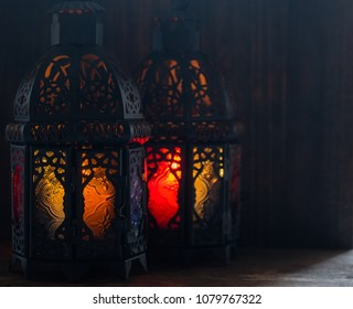 Eid or Ramadhan lantern in lowlight