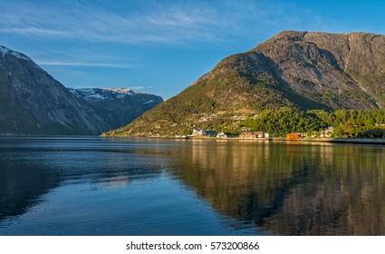 Eidfjord town, Norway.