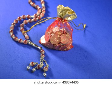 Eidy - a custom to distribute money to kids during Eid festival.Eid festive symbolic gift.