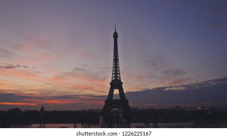 eifel effel tower paris france sunrise sunset