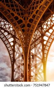 Eifel tower construction detail