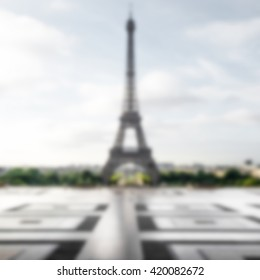 Eiffel Tower background with intentionally blur effect applied
