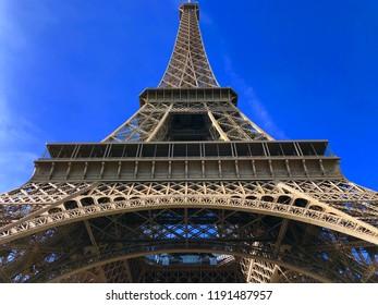 Eiffel Tower with a  Blue Sky