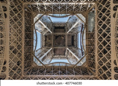 Eiffel Tower from bottom. Paris, France