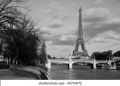 Eiffel tower and bridge of Rouelle