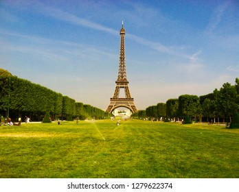 The Eiffel Tower and the Champ de Mars