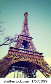 Eiffel Tower at day in Paris, France.