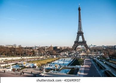 Eiffel Tower Frozen Garden