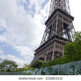 Eiffel Tower. Glass protection, risk of attack (Paris France)