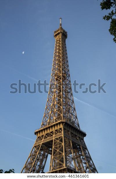 Eiffel tower at golden jour