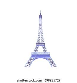 Eiffel tower isolated illustration