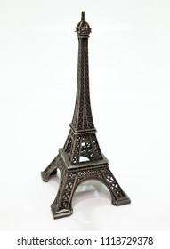Eiffel Tower, isolated on white.
