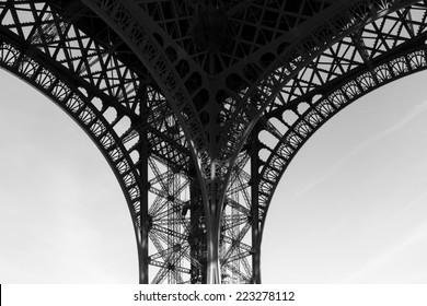 eiffel tower leg close-up