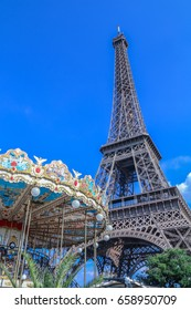The Eiffel Tower and merry-go-round