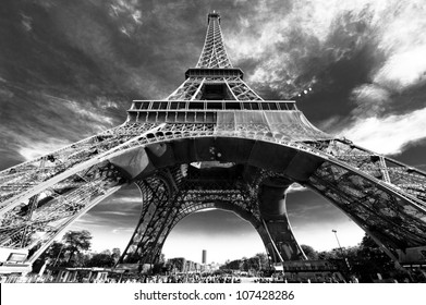 The Eiffel Tower, on the Champ de Mars in Paris, France.