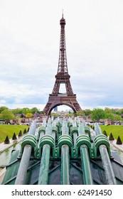 Eiffel tower on Champ de Mars in Paris
