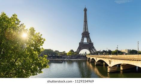 Eiffel tower Panorama, Paris. France
