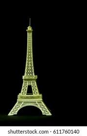 Eiffel tower paper toy model