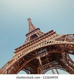 The Eiffel Tower in Paris.