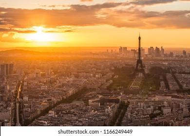 Eiffel Tower in Paris , France