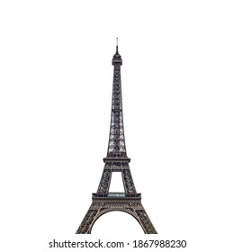 Eiffel Tower (Paris, France) isolated on white background