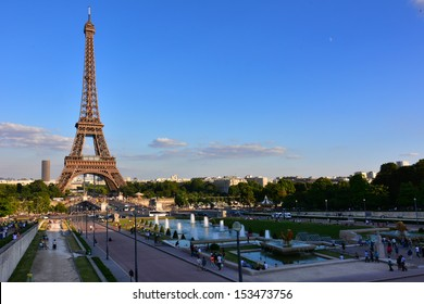 Eiffel tower , Paris France in summer