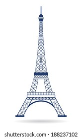 Eiffel Tower Paris. Icon design