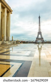 Eiffel Tower in Paris in the morning