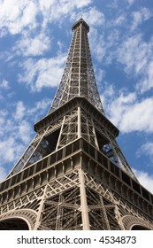 Eiffel Tower in Paris on a sunny day
