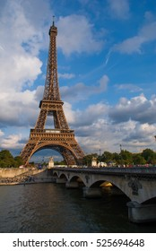 The Eiffel Tower of Paris on a sunny afternoon