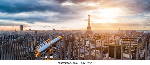 Eiffel Tower seen from Arc de Triomphe