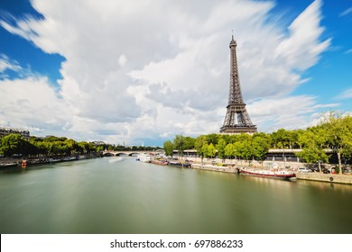 The Eiffel Tower and the Seine