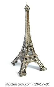 Eiffel tower souvenir figure, famous french landmark