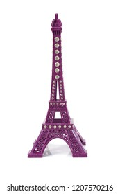 eiffel tower statue isolated on white background