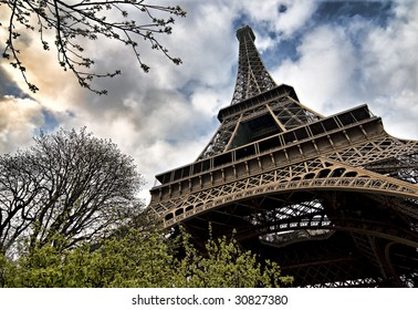 Eiffel tower (super wide angle shot)