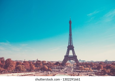 Eiffel Tower, symbol of Paris, France. Paris Best Destinations in Europe/
