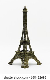 Eiffel tower toy model isolated for decoration