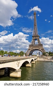 Eiffel Tower view from the Bridge of Jena, Paris, France
