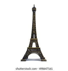 Eiffel Tower a white background