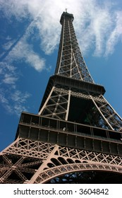The Eiffel Tower, wide-angle view
