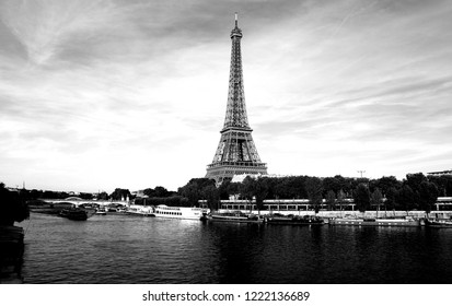 The Eiffel Tower is a wrought iron lattice tower on the Champ de Mars in Paris, France.
