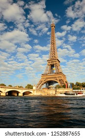 Eiffel Towerand River Seine in Paris, France.
