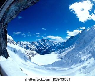 Eiger glacier on the way to Jungfrau joch