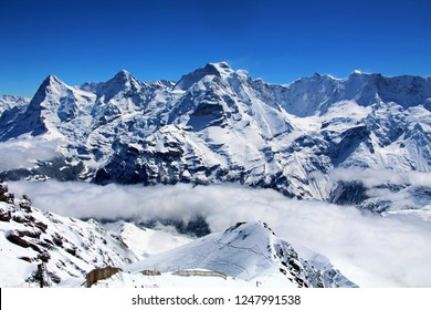 The Eiger, Jungfrau and Monch Mountains