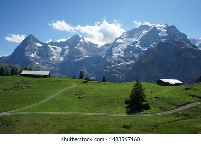 Eiger jungfrau mountains in Switzerland