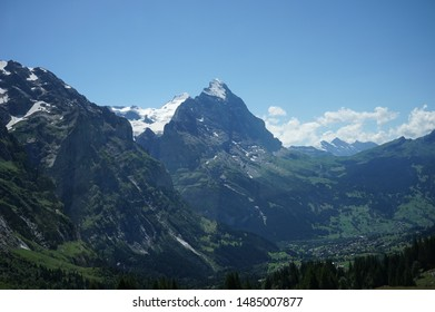Eiger knife ridge mountains in Switzerland