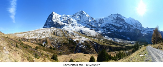 Eiger, Moench and Jungfrau mountain, Switzerland