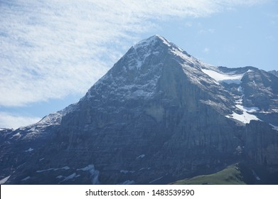Eiger north face mountain in Switzerland