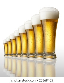 eight glasses of beer in a row
